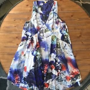 ANTHROPOLOGIE Leifsdottir Silk Watercolor Dress 2